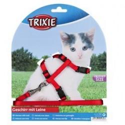 Harnais chaton avec laisse, nylon 19-31 cm/8 mm, 1,20 m