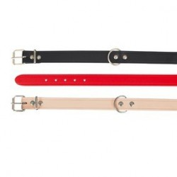 Basic collier S: 28-34 cm/14 mm, rouge
