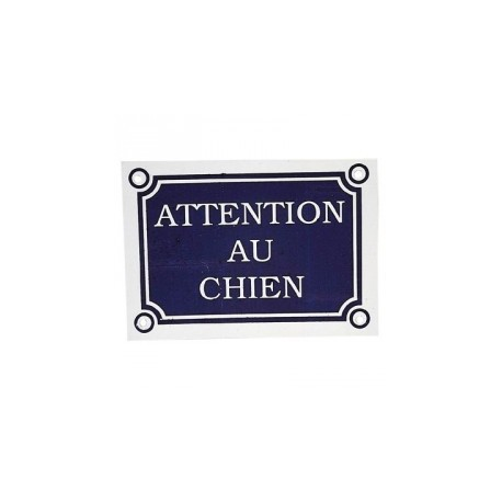 plaque attention au chien. Black Bedroom Furniture Sets. Home Design Ideas