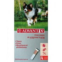 ADVANTIX MOYEN CHIEN 10-25 kg 4 PIP