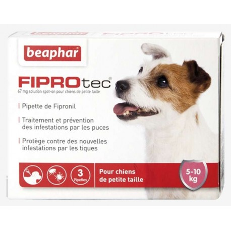 FIPROTEC CHIEN 5-10 Kg SPOT ON 3 PIPETTES
