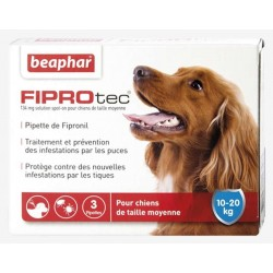 FIPROTEC CHIEN 10-20 Kg SPOT ON 3 PIPETTES