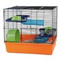 Cage avec equipement de base pour hamsters 40 x 38 x 30 cm, orange/bleu/vert