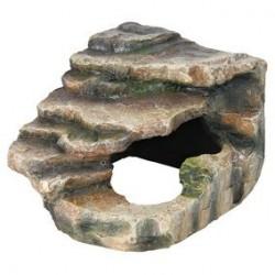 Rocher d'angle a. caverne et plate-forme 16 x 12 x 15 cm