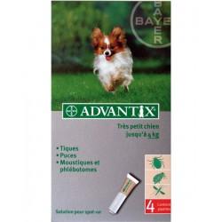 ADVANTIX TRES PETIT CHIEN 1.5 à 4 Kg 4 PIP