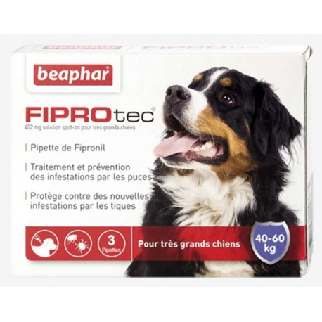FIPROTEC CHIEN 40-60 Kg SPOT ON 3 PIPETTES
