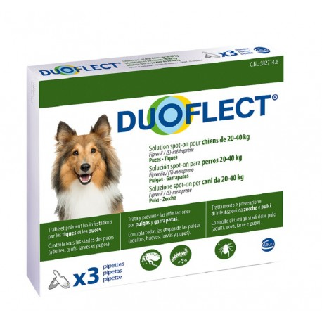 DUOFLECT CHIEN 20-40 Kg 3 PIPETTES