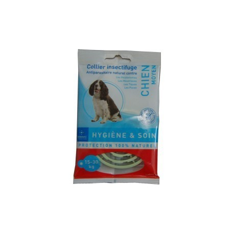COLLIER INSECTIFUGE CHIEN MOYEN