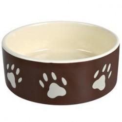 Ecuelle ceramique avec empreintes de pattes 1,4 l/D 20 cm, brun/creme